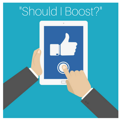 Facebook Boost Post Button
